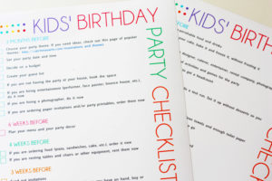kiddys kingdom first birthday party planning checklist
