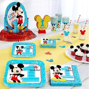 kiddys kingdom mickey mouse birthday tableware
