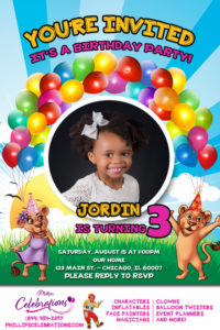 kiddys kingdom birthday party invitation