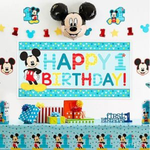 kiddys kingdom mickey mouse birthday banner