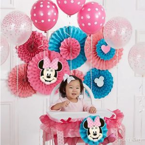 kiddys kingdom minnie mouse birthday decor