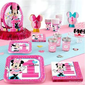 kiddys kingdom minnie mouse birthday tableware